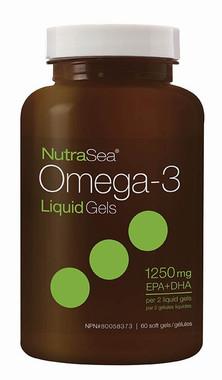 Ascenta NutraSea Omega-3 Liquid Gels, 60 Soft gels | NutriFarm.ca