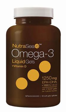 Ascenta NutraSea+D Liquid Gel, 60 Soft Gels | NutriFarm.ca