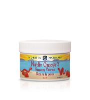 Nordic Naturals Omega 3 Gummy Worms Strawberry, 30 Gummies | NutriFarm.ca