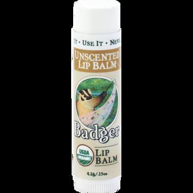 ** Discontinued ** Badger Balms Unscented Lip Balm, 4.2 g | NutriFarm.ca