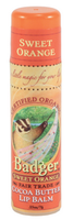 Badger Balms Cocoa Butter Lip Balm (Sweet Orange), 7 g |  NutriFarm.ca
