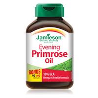 Jamieson Laboratories Evening Primrose Oil 500 mg, 90 + 90 Capsules   NutriFarm.ca