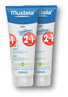 Mustela 2 in 1 Hair and Body Wash, 200 ml (Buy 1 Get 1 FREE)