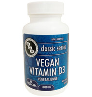 AOR Vitamin D3 Vegan, 60 Vegetable Capsules | NutriFarm.ca