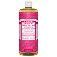 Dr. Bronner's Organic Rose Oil Castile Liquid Soap, 946 ml | NutriFarm.ca