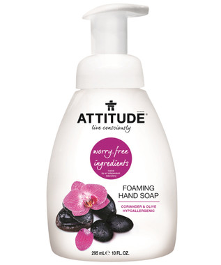 Attitude Foaming Hand Soap Coriander and Olive, 295 ml | NutriFarm.ca