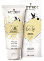 Attitude Blooming Belly Natural Stretch Oil Almond and Argan, 75 g | NutriFarm.ca