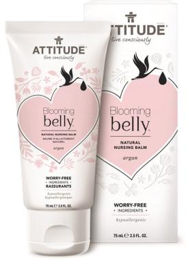 Attitude Blooming Belly Natural Nursing Balm Argan, 75 g | NutriFarm.ca