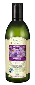 Avalon Organics Lavender Bath & Shower Gel, 355 ml | NutriFarm.ca