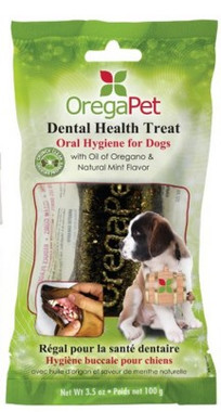 OregaPet Dental Health Treat Large, 100 g | NutriFarm.ca