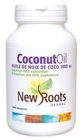 New Roots Coconut Oil Extra Virgin 1000 mg, 180 Softgels | NutriFarm.ca