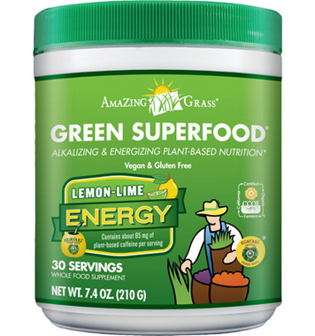 Amazing Grass Green Superfood (Lemon Lime), 210 g | NutriFarm.ca