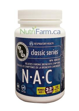 AOR NAC, 120 + 40 Free Veg Capsules   NutriFarm.ca
