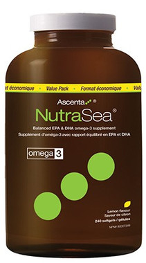 Ascenta NutraSea (Lemon), 240 Softgels | NutriFarm.ca