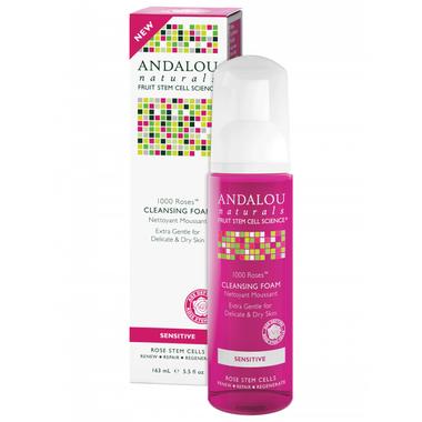 Andalou Naturals 1000 Roses Cleansing Foam, 163 ml | NutriFarm.ca