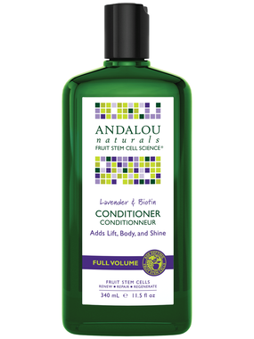 Andalou Naturals Lavender and Biotin Volume Conditioner, 340 ml | NutriFarm.ca