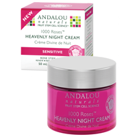 Andalou Naturals 1000 Roses Heavenly Night Cream, 50 ml | NutriFarm.ca