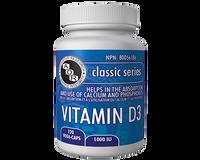 Vitamin D3 1000 IU, 120 Vegetable Capsules