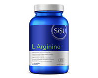 SISU L-Arginine 750 mg, 90 Vegetable Capsules | NutriFarm.ca