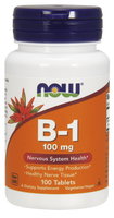 NOW B-1 100 mg, 100 Tablets | NutriFarm.ca
