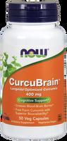 NOW CurcuBrain Longvida 400 mg, 50 Vegetable Capsules | NutriFarm.ca