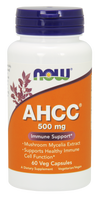 NOW AHCC Mushrooms 500 mg, 60 Vegetable Capsules | NutriFarm.ca