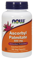 NOW Ascorbyl Palmitate 500 mg, 100 Vegetable Capsules | NutriFarm.ca