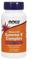 NOW Advanced Gamma E Complex, 60 Softgels | NutriFarm.ca