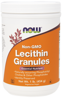 NOW Lecithin Granules Non-GMO, 454 g | NutriFarm.ca