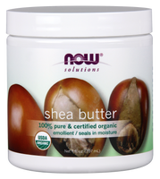 NOW Organic Shea Butter 100% Pure, 207ml | NutriFarm.ca