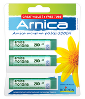 Boiron Arnica Montana 200ch Blister Pack, 3 x 80 Pellets | NutriFarm.ca