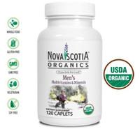 Nova Scotia Organics Men's Multivitamins & Minerals, 120 Caplets | NutriFarm.ca
