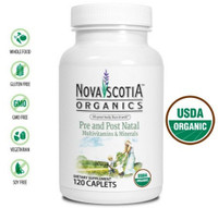 Nova Scotia Organics Pre and Post Natal Multivitamins & Minerals, 120 Caplets | NutriFarm.ca