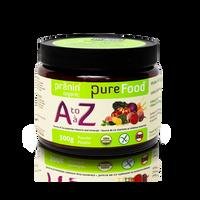 Pranin Organic PureFood A-Z, 300 g | NutriFarm.ca
