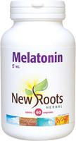 New Roots Melatonin 5 mg, 60 Vegetable Capsules | NutriFarm.ca