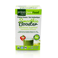 Pranin Organic PureFood Smoothie Booster Original Green, 12 packs of 30 g | NutriFarm.ca