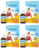 Baby Ddrops 400 IU, 90 drops/2.5 mL * 4 | NutriFarm.ca