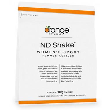 Orange Naturals ND Shake Women's Sport Vanilla, 500 g | NutriFarm.ca