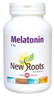 New Roots Melatonin 3 mg, 180 Tablets | NutriFarm.ca