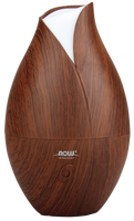 NOW Faux Wood Ultrasonic Essential Oil Diffuser, 1 unit   NutriFarm.ca