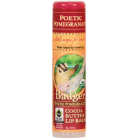 Badger Balms Poetic Pomegranate Lip Balm, 7 g | NutriFarm.ca