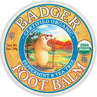 Badger Balms Foot Balm Peppermint and Tea Tree, 56 g | NutriFarm.ca