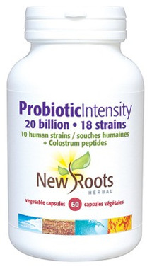 New Roots Probiotic Intensity 20 billion, 60 Capsules | NutriFarm.ca