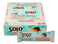 Solo Gi Dark Chocolate Almond, Box of 12 (50 g/ bar) | NutriFarm.ca