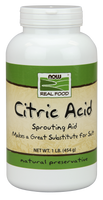 NOW Citric Acid, 454 g | NutriFarm.ca