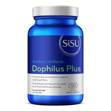 SISU Dophilus Plus 4 billion, 120 Vegetable Capsules | NutriFarm.ca