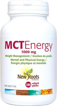 New Roots MCT Energy, 180 Softgels | NutriFarm.ca