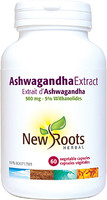 New Roots Ashwagandha Extract, 60 Capsules  | NutriFarm.ca