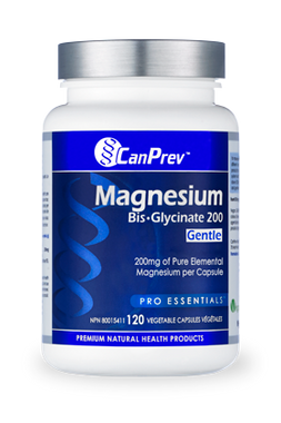CanPrev Magnesium BisGlycinate 200 Gentle, 120 Vegetable Capsules