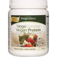 Progressive VegeGreens Vegan Protein Natural Vanilla, 350 g | NutriFarm.ca